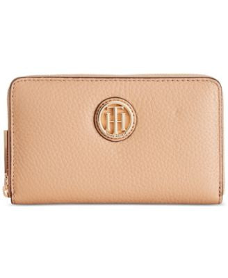 Tommy Hilfiger Lucky Charm Pebble Leather Medium Zip-Around Wallet