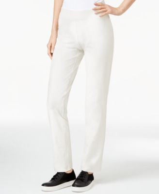 Eileen Fisher Pull-On Straight-Leg Pants