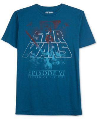 Men's Star Wars Return Of The Jedi Gradient Graphic-Print T-shirt from Jem