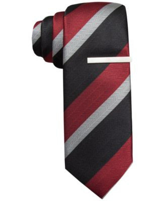 Alfani North Stripe Skinny Tie, Only at Vogily