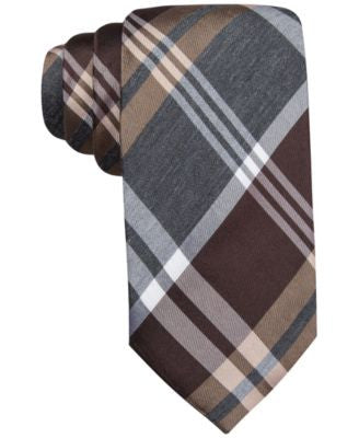 Alfani Spectrum Neptune Plaid Slim Tie, Only at Vogily
