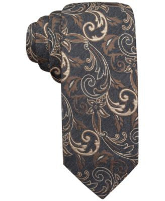 Alfani Spectrum Neptune Vine Slim Tie, Only at Vogily