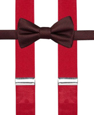 Alfani Spectrum Nailhead II Pre-Tied Bow Tie and Suspender Set, Only at Vogily