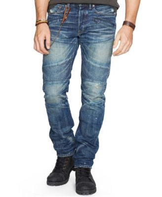 Denim & Supply Ralph Lauren Men's Alamo Slim-Fit Moto Jeans