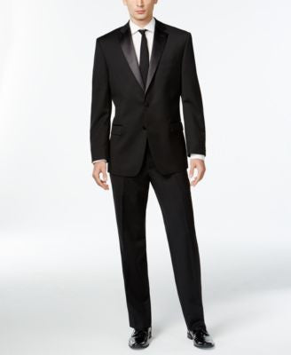 Calvin Klein Black Two-Button Slim-Fit Tuxedo