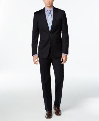 Calvin Klein Navy Solid Slim X Fit Suit