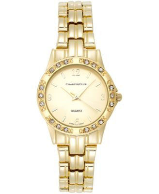 Charter Club Women's Gold-Tone Stainless Steel Bracelet Watch 31mm 16859 - Only at Vogily
