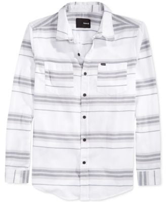 Hurley Debate Burnout Stripe Long-Sleeve Shirt