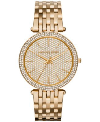 Michael Kors Women's Darci Gold-Tone Stainless Steel Bracelet Watch 39mm MK3438