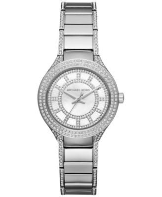 Michael Kors Women's Mini Kerry Stainless Steel & Pavé Crystal Bracelet Watch 33mm MK3441
