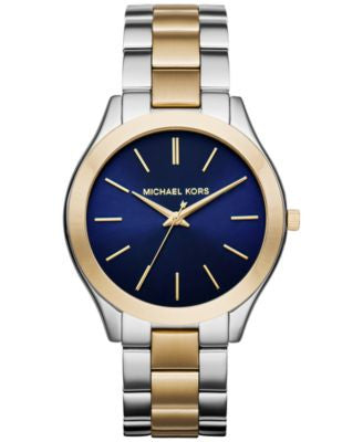 Michael Kors Women's Slim Runway Two-Tone Stainless Steel Bracelet Watch 42mm MK3479