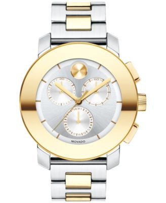 Movado Women's Swiss Chroograph BOLD Two-Tone Stainless Steel Bracelet Watch 38mm 3600357