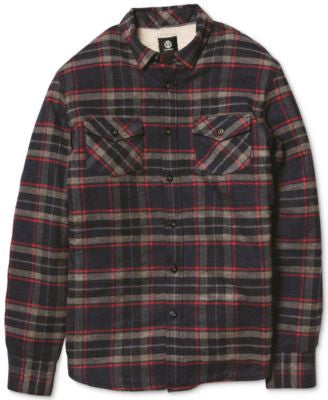 Element Outback Plaid Long-Sleeve Button-Down Shirt