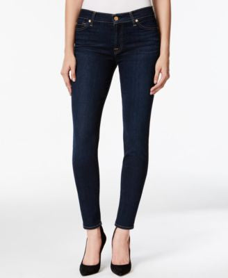 7 For All Mankind Skinny Dark Indigo Wash Jeans