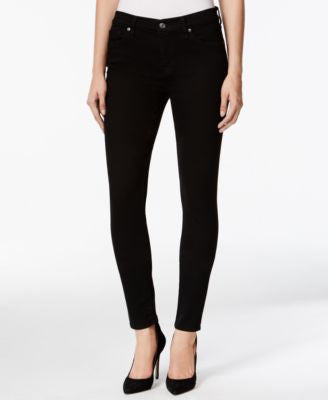7 For All Mankind Skinny Black Wash Jeans