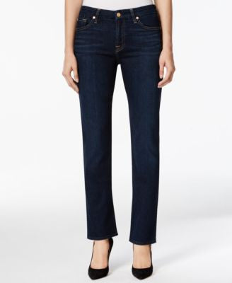 7 For All Mankind Kimmie Straight-Leg Dark Indigo Wash Jeans