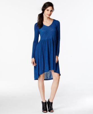 kensie Space-Dye Hooded Jersey Dress
