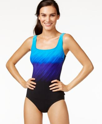 Reebok Deep Ombré One-Piece Swimsuit