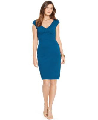 American Living Cap-Sleeve Stretch Sheath Dress