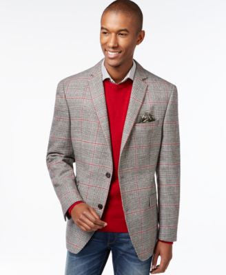 Tallia Slim-Fit Viale Glen Plaid Wool Blazer