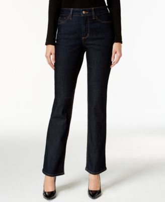 NYDJ Hayley Straight-Leg Tummy Control Dark Enzyme Wash Jeans