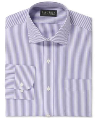 Lauren Ralph Lauren Non-Iron Lilac Bengal-Striped Dress Shirt