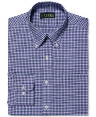 Lauren Ralph Lauren Non-Iron Lilac Multi-Plaid Dress Shirt