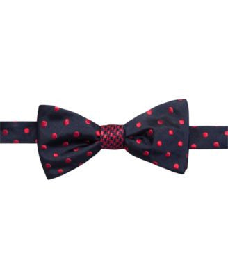 Countess Mara Houndstooth Dot Reversible To-Tie Bow Tie