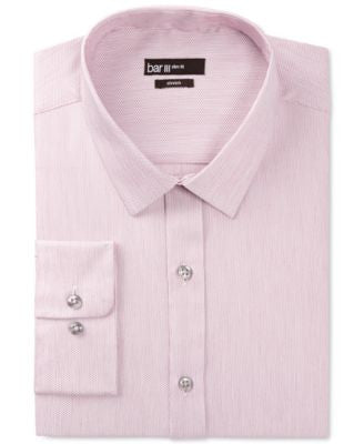 Bar III Merlot Dobby-Textured Dress Shirt, Only at Vogily