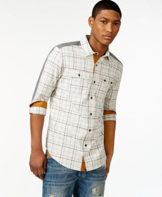 Sean John Men's Blocked Shirt