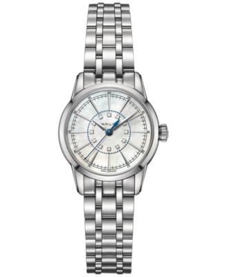 Hamilton Women's RailRoad Lady Diamond Accent Stainless Steel Bracelet Watch 28mm H40311191