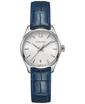 Hamilton Women's Jazzmaster Blue Leather Strap Watch 30mm H42211655