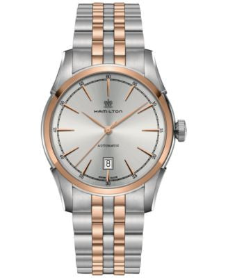 Hamilton Men's Swiss Automatic Spirit of Liberty Two-Tone PVD Stainless Steel Bracelet Watch 42mm H4
