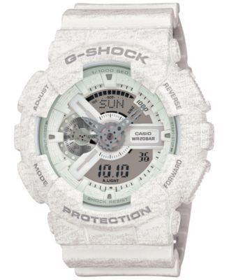 G-Shock Men's Chronograph Analog-Digital White Bracelet Watch 55x51mm GA110HT-7A