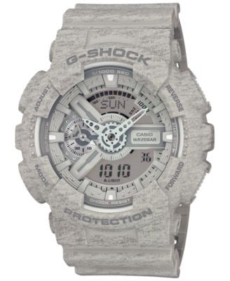 G-Shock Men's Chronograph Analog-Digital Gray Strap Watch 55x51mm GA110HT-8A