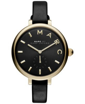 Marc by Marc Jacobs Women's Sally Black Leather Strap Watch 36mm MJ1416