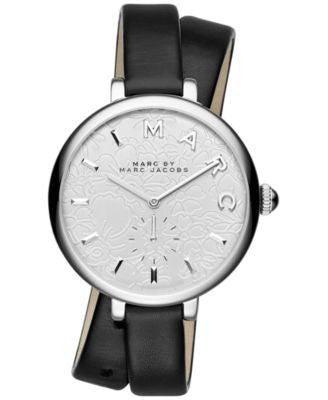 Marc by Marc Jacobs Women's Sally Black Leather Strap Watch 36mm MJ1419