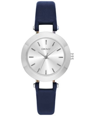 DKNY Women's Stanhope Blue Leather Strap Watch 28mm NY2412