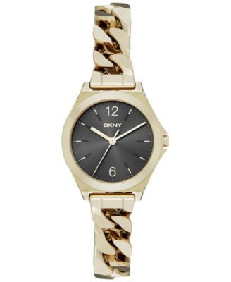 DKNY Women's Parsons Gold-Tone Stainless Steel Bracelet Watch 30mm NY2425
