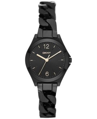 DKNY Women's Parsons Black Stainless Steel Bracelet Watch 30mm NY2426