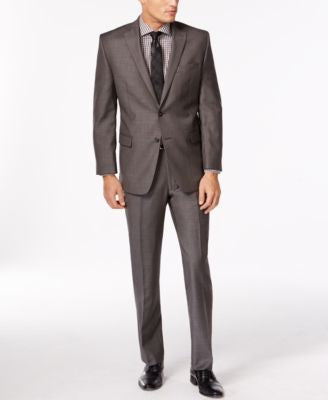 Calvin Klein Charcoal Pindot Slim-Fit Suit Separates