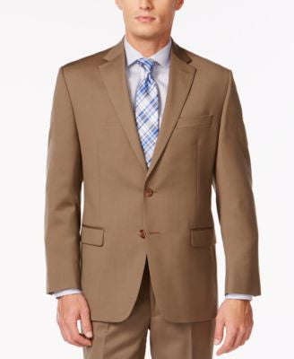 Lauren Ralph Lauren Tan Solid Big and Tall Jacket