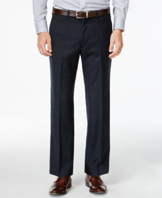 Lauren Ralph Lauren Navy Plaid Dress Pants