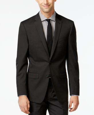DKNY Black Pindot Jacket Extra Slim Fit