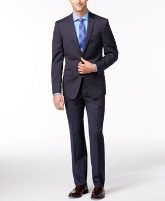 DKNY Navy Tight-Stripe Suit Separates Extra Slim Fit