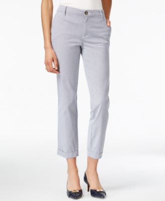 Tommy Hilfiger Hampton Pinstriped Cropped Pants
