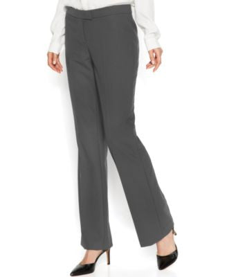 Anne Klein Tropical Wool-Blend Bootcut Trousers