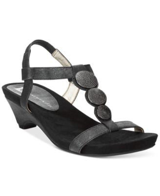 Anne Klein Tayla Embellished Sandals