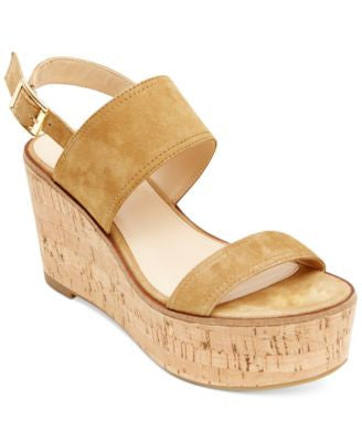Steve Madden Women's Caytln Cork Wedge Sandals