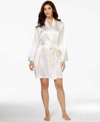 Morgan Taylor Satin Short Robe